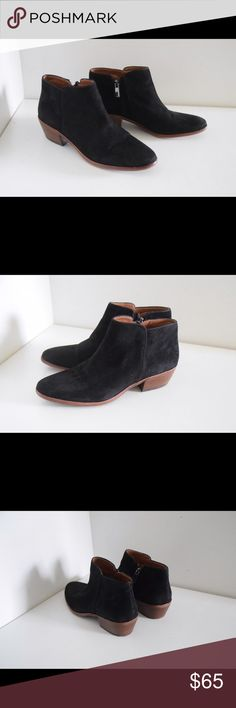 """Sam Edelman 'Francis' boots Sam Edelman """"Petty"""" ankle boots Size 7. Heels 1 1/2"""" Leather lined. Suede upper -black Leather soles Metallic side zip closure Minor wear to soles(pic) In excellent condition!  Beautiful boots Sam Edelman Shoes Ankle Boots & Booties"""