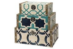 Shop for Imax Corporation Hadley Boxes - Set Of and other Accessories at Osmond Designs in Orem Lehi & Salt Lake City, Utah. Inspired by nautical shades and patterns, the set of three Hadley boxes add a contemporary twist to any decor.
