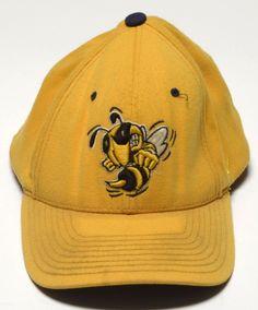 Georgia Tech Yellowjackets Hat Cap Yellow Gold  GT Zephyr Medium Large OSFM Used #Zephyr #GeorgiaTech