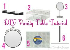 DIY Makeup Vanity Table Tutorial using parts from Ikea