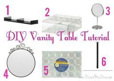 DIY Makeup Vanity Table Tutorial using parts from Ikea
