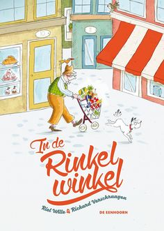 In de Rinkelwinkel/ Riet Wille, Richard Verschraagen Graphic Design Illustration, School, Fictional Characters, Super, Stage, Fruit, Products, Library Locations, Fantasy Characters