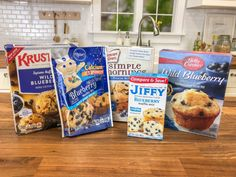 Which blueberry muffin mix is really the best for getting that homemade taste and real blueberry flavor? We tried five popular brands to find out! Blueberry Muffin Mix Recipe, Best Blueberry Muffins, Mixed Berry Muffins, Savory Pastry, Muffin Bread, Bread Mix, Cake Tasting, Moist Cakes, Pillsbury