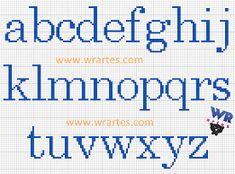 Resultado de imagem para letras pequenas para  em ponto cruz