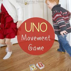 UNO Movement Game for Kids ...This is a great warm up or reward activity, even a nice one to share with teachers..