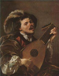 The Singing Lute Player - Hendrick Terbrugghen, 1624