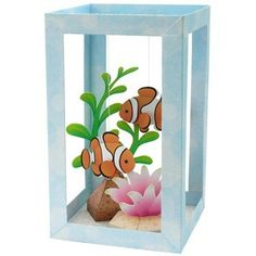Amazing paper craft Arts and Crafts for Kids - Tissue Box Aquarium - Glow in the Dark Paint can turn the fish, plants, or box into a night light If you enjoy arts and crafts a person will appreciate this cool site! Kids Crafts, Summer Crafts, Projects For Kids, Diy For Kids, Diy And Crafts, Craft Projects, Arts And Crafts, Craft Ideas, Craft Kits