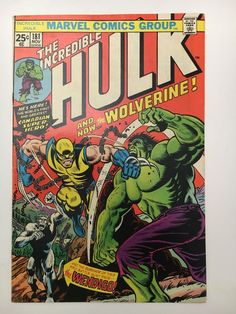 INCREDIBLE HULK # 181 // 1st App. WOLVERINE // FN/VF (Q)