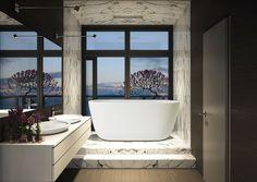 Lullaby, la piccola vasca da bagno freestanding in pietra - AQUATICA PLUMBING GROUP - News e comunicati stampa