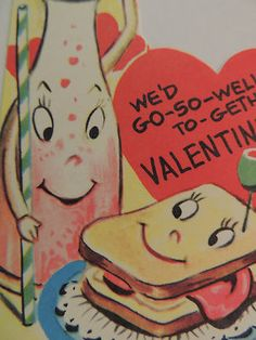 Vintage anthropomorphic Valentine card
