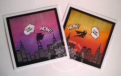 Designed by Sarah Bell - using Superheroes stamps by For the Love of Stamps