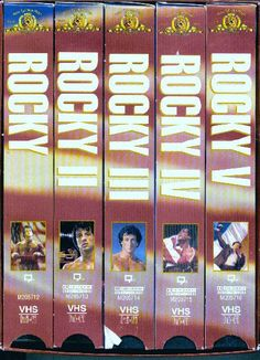 Vtg ROCKY Movie Series Complete Set of 1-5 VHS in Collectors Case Free S/H USA