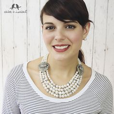 Scoop necks are best paired with short necklaces with volume or statement necklaces. The necklace should fall above your neckline or follow the line of your neckline to help fill in the bare spaces around your neck.   www.chloeandisabel.com/boutique/adisgoree   Merchandiser: Adis Goree -  to receive c+i gift cards, discount codes & fundraiser partnerships   Thanks!