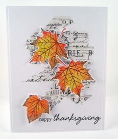 Suzz's Stamping Spot, Hero Arts, Hero Arts Hostess Blog Hop 2016, Grateful Leaves, Thanksgiving, fall, autumn