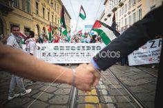 Pro palestine manifestation in milan on july, 26 2014 — Photo