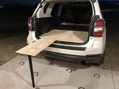 (All Years) sleeping in the back (merged thread) - Page 21 - Subaru Forester Owners Forum Campervan Storage Ideas, Truck Bed Storage, Suv Camper, Mini Camper, Minivan Camping, Jeep Camping, Toyota Sequioa, Outback Campers, Motorhome