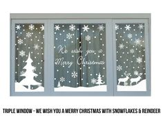Christmas Window Signs – Fun for Christmas & Halloween Office Christmas, Noel Christmas, Christmas Crafts, Christmas Windows, Christmas Bingo, Xmas Holidays, Christmas Gingerbread, Christmas Window Stickers, Christmas Window Decorations