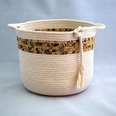 Coiled Basket Astral Summers Soft Pottery by PaleMoonTreasures