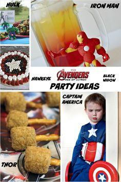 Avengers Party Ideas for Age of Ultron: Captain America, Hulk, Iron Man, Black Widow and more!