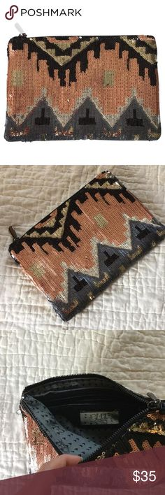Clutch  Gorgeous 'night on the town' clutch.  Shimerring four toned sequin, perfect for any outfit!  Barely used (almost new)! Clutch Bags Clutches & Wristlets