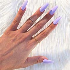 Cute Acrylic Nails 731835008182259606 - Chic Summer Matte Acrylic Nails Designs To Copy – – Source by nailartideen Matte Purple Nails, Light Purple Nails, Purple Acrylic Nails, Acrylic Nails Coffin Short, Best Acrylic Nails, Coffin Nails, Lilac Nails With Glitter, Acrylic Nails Autumn, Matte Nail Colors