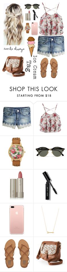 """""""Wishing it was Summer (ice cream tag)"""" by lillyd26 ❤ liked on Polyvore featuring Aéropostale, Ray-Ban, Ilia, Bobbi Brown Cosmetics, Jennifer Zeuner, Billabong and Mudd"""