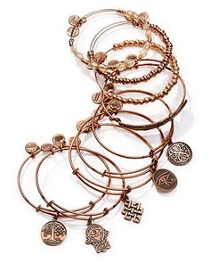 Alex and Ani Rose Gold Tone Wire Bangles - Exclusive Jewelry & Accessories - Bloomingdale's Alex And Ani Bangles, Alex And Ani Jewelry, Christmas Mom, Rose Gold Jewelry, Jewelry Bracelets, Jewelry Accessories, Wire, Jewels, Athleisure