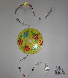 Mandala pronta com reciclagem de CDs e DVDs