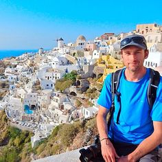 Of all the beautiful villages, beaches and ancient ruins on Santorini, the cliffside town of Oia was by far our favorite. #santorini #greece #travel