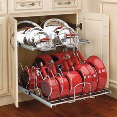 Rev-A-Shelf 5CW2 Two-Tier Cookware Organizer Cabinet Organization, Chrome - ATG Stores