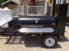 Custom Barbecue Trailers – GrillBillies Barbecue, LLC. Custom Bbq Smokers, Custom Bbq Pits, Bbq Smoker Trailer, Bbq Pit Smoker, Catering Trays, Catering Events, Rack Of Ribs, Offset Smoker, Chicken Cooker