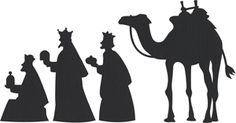 Silhouette Design Store - View Design #1540: Nativity Wisemen