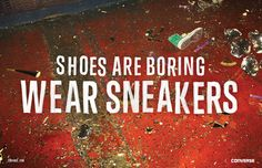 The Print Ad titled Aftermath was done by Anomaly New York advertising agency for product: Converse Shoes (brand: Converse) in United States. Meet Women, Type Treatments, Type Illustration, Brand Campaign, Great Ads, Creative Advertising, Advertising Agency, College Humor, Converse Sneakers
