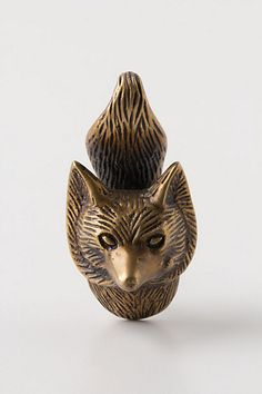 Through The Woods Knob, Fox #anthropologie