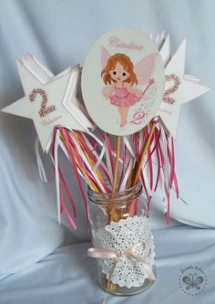 Fairy wands at a fairy shabby chic birthday party! See more party ideas at CatchMyParty.com!