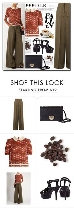 """""""Street Smart with DLRBOUTIQUE.COM"""" by gorgeautiful ❤ liked on Polyvore featuring RED Valentino, Jimmy Choo, Yves Saint Laurent, StreetStyle, classy, Elegant, dlr and dlrboutique"""