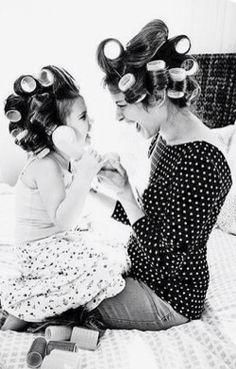 A la peluquería con mami