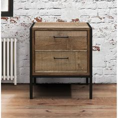Our bedroom range is perfect for adding a hint of industrial chic to any bedroom. This 2 Drawer Bedside features 2 handy drawers ideal for storing away any belongings. Loft Furniture, Industrial Furniture, Table Furniture, Big Bedrooms, Night Table, Bedroom Loft, Master Bedroom, Industrial Chic, Storage Drawers