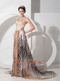 Multi-color Empire Evening Dress Strapless Special Fabric Court Train- $139.46  www.fashionos.com  prom dress on sale | evening dress for cheap | evening dress with low price | evening dress under150 | perfect affordable evening dress | 2013evening dress for celebrity | evening dress with low cost | 2013new style evening dress | evening dress in multi colors | printed evening dress |