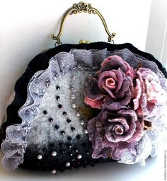 Купить Валяная сумка Графиня - серый d08ab7e159