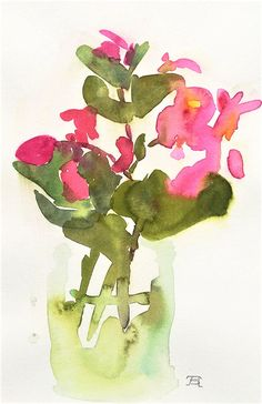 Allison Spreadborough is a landscape, botanical, abstract and intuitive watercolor painter residing in Northern California. Begonia, Abstract Watercolor, Northern California, Landscape, Painting, Pink, Art, Art Background, Painting Art