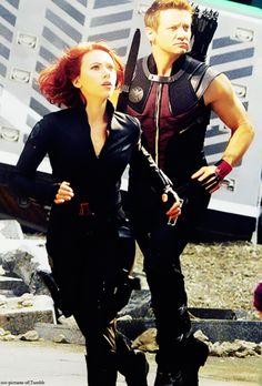 The Avengers, Black Widow & Hawkeye