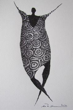 Åse Margrethe Hansen; ink drawing, 2012 Artistic Visions, Black White Art, Dinners For Kids, Wire Art, Figurative Art, Mixed Media Art, Altered Art, Illustration Art, Illustrations