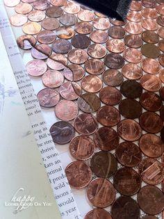 epoxy on pennies