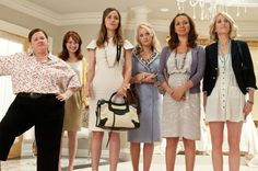 Bridesmaids. The movie is outrageous! Didn't stop laughing the whole time! The dress shopping scene was the best!