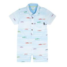 4f883f0799203c Baker by Ted Baker Baby boys  light blue airplane print romper suit
