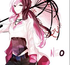 Neo from rwby, best character Full Metal Alchemist, Log Horizon, Manga Girl, Anime Manga, Rwby Anime, Anime Girls, Rwby Fanart, Anime Child, Teen Titans
