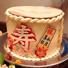 「樽酒ケーキ」