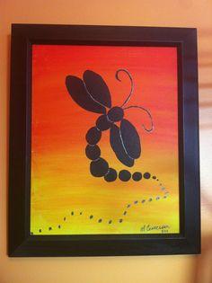 Dragonfly My Arts, Frame, Home Decor, Homemade Home Decor, A Frame, Frames, Hoop, Decoration Home, Interior Decorating