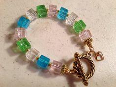 Pastel Bracelet  Fashion Jewelry  Gold Jewelry  Heart by cdjali